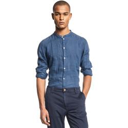 vaatteet Miehet Pitkähihainen paitapusero Gaudi 111GU45006 Sininen