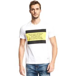 vaatteet Miehet Lyhythihainen t-paita Gaudi 111GU64071 Valkoinen