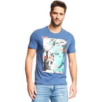 vaatteet Miehet Lyhythihainen t-paita Gaudi 111GU64073 Sininen