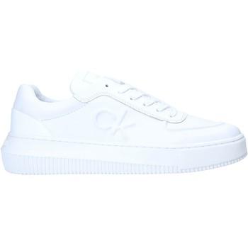 kengät Naiset Matalavartiset tennarit Calvin Klein Jeans YW0YW00065 Valkoinen