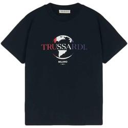 vaatteet Miehet Lyhythihainen t-paita Trussardi 52T00443-1T005227 Musta
