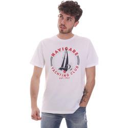 vaatteet Miehet Lyhythihainen t-paita Navigare NV31113 Valkoinen