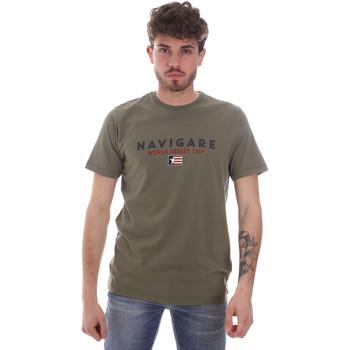 vaatteet Miehet Lyhythihainen t-paita Navigare NV31139 Vihreä