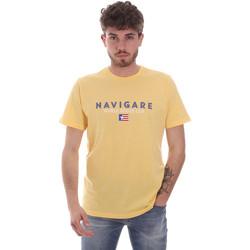 vaatteet Miehet Lyhythihainen t-paita Navigare NV31139 Keltainen