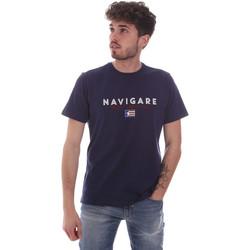 vaatteet Miehet Lyhythihainen t-paita Navigare NV31139 Sininen