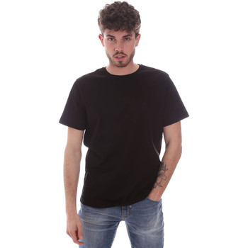 vaatteet Miehet Lyhythihainen t-paita Navigare NV71003 Musta