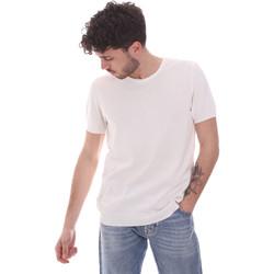 vaatteet Miehet Lyhythihainen t-paita Gaudi 111GU53004 Valkoinen