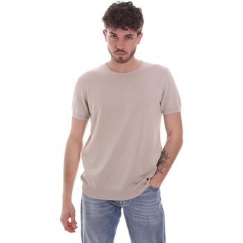 vaatteet Miehet Lyhythihainen t-paita Gaudi 111GU53004 Beige