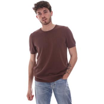 vaatteet Miehet Lyhythihainen t-paita Gaudi 111GU53004 Ruskea