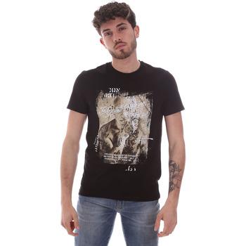 vaatteet Miehet Lyhythihainen t-paita Gaudi 111GU64091 Musta