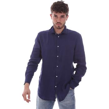 vaatteet Miehet Pitkähihainen paitapusero Gaudi 111GU45005 Sininen