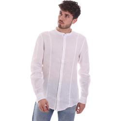 vaatteet Miehet Pitkähihainen paitapusero Gaudi 111GU45006 Valkoinen