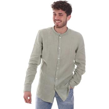 vaatteet Miehet Pitkähihainen paitapusero Gaudi 111GU45006 Vihreä