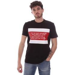 vaatteet Miehet Lyhythihainen t-paita Gaudi 111GU64071 Musta