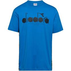 vaatteet Miehet Lyhythihainen t-paita Diadora 502176630 Sininen