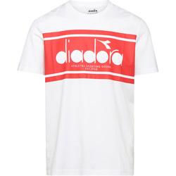 vaatteet Miehet Lyhythihainen t-paita Diadora 502176632 Valkoinen