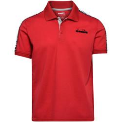 vaatteet Miehet Lyhythihainen poolopaita Diadora 102175672 Punainen