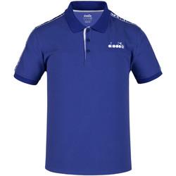 vaatteet Miehet Lyhythihainen poolopaita Diadora 102175672 Sininen