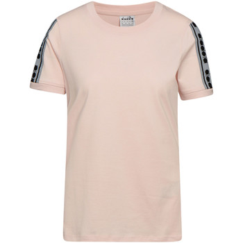 vaatteet Naiset Lyhythihainen t-paita Diadora 502175812 Vaaleanpunainen