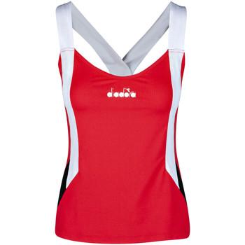 vaatteet Naiset Hihattomat paidat / Hihattomat t-paidat Diadora 102175658 Punainen