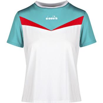 vaatteet Naiset Lyhythihainen t-paita Diadora 102175659 Valkoinen