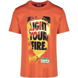 vaatteet Miehet Lyhythihainen t-paita Diadora 502175837 Oranssi
