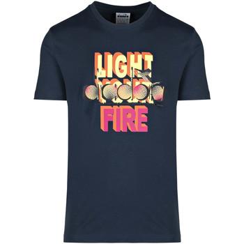 vaatteet Miehet Lyhythihainen t-paita Diadora 502175837 Sininen