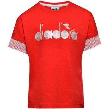 vaatteet Lapset Lyhythihainen t-paita Diadora 102175914 Punainen