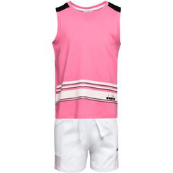 vaatteet Lapset Kokonaisuus Diadora 102175915 Vaaleanpunainen