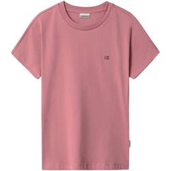 vaatteet Naiset Lyhythihainen t-paita Napapijri NP0A4FAC Vaaleanpunainen