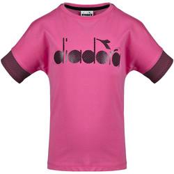 vaatteet Lapset Lyhythihainen t-paita Diadora 102175914 Vaaleanpunainen
