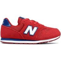 kengät Lapset Matalavartiset tennarit New Balance NBYC373SRW Punainen
