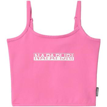 vaatteet Naiset Hihattomat paidat / Hihattomat t-paidat Napapijri NP0A4FHI Vaaleanpunainen