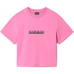 vaatteet Naiset Lyhythihainen t-paita Napapijri NP0A4FHG Vaaleanpunainen