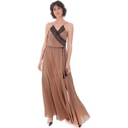vaatteet Naiset Pitkä mekko Cristinaeffe 0704 2498 Beige