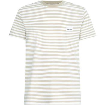 vaatteet Miehet Lyhythihainen t-paita Calvin Klein Jeans K10K107288 Beige