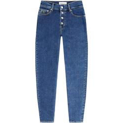 vaatteet Naiset Boyfriend-farkut Calvin Klein Jeans J20J213329 Sininen