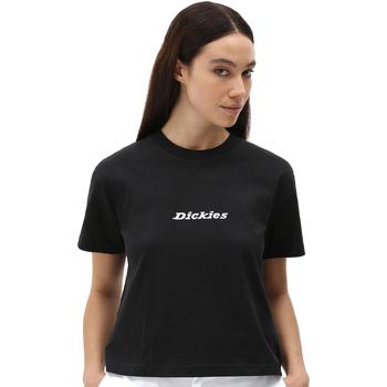 vaatteet Naiset Lyhythihainen t-paita Dickies DK0A4XBABLK1 Musta