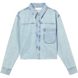 vaatteet Naiset Farkkutakki Calvin Klein Jeans J20J215908 Sininen