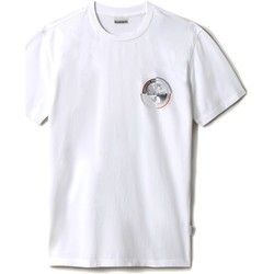 vaatteet Lyhythihainen t-paita Napapijri NP0A4F5M Valkoinen