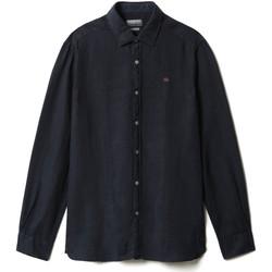 vaatteet Miehet Pitkähihainen paitapusero Napapijri NP0A4F81 Sininen