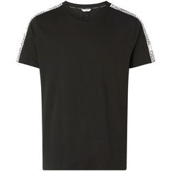 vaatteet Miehet Lyhythihainen t-paita Calvin Klein Jeans KM0KM00607 Musta