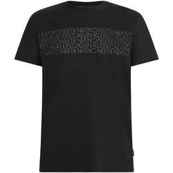 vaatteet Miehet Lyhythihainen t-paita Calvin Klein Jeans K10K106961 Musta