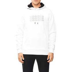 vaatteet Miehet Svetari Calvin Klein Jeans K10K107144 Valkoinen
