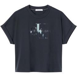 vaatteet Naiset Lyhythihainen t-paita Calvin Klein Jeans J20J216347 Musta