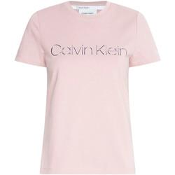 vaatteet Naiset Lyhythihainen t-paita Calvin Klein Jeans K20K201852 Vaaleanpunainen