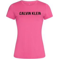 vaatteet Naiset Lyhythihainen t-paita Calvin Klein Jeans 00GWF0K168 Vaaleanpunainen