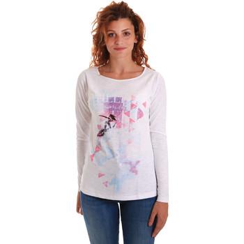 vaatteet Naiset T-paidat pitkillä hihoilla Key Up 5G68S 0001 Valkoinen