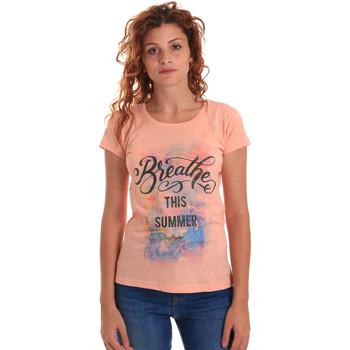 vaatteet Naiset Lyhythihainen t-paita Key Up 5D59S 0001 Oranssi