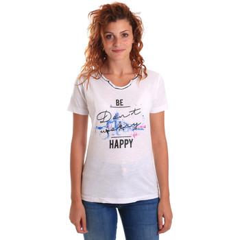 vaatteet Naiset Lyhythihainen t-paita Key Up 5G63S 0001 Valkoinen
